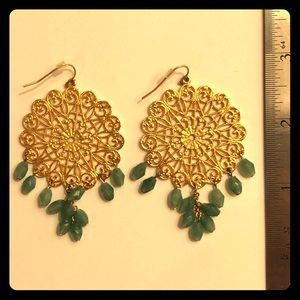Jewelry - Gold Indian-inspired dangling earrings